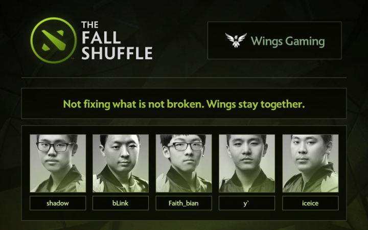 Top Chinese teams after the Roster Shuffle
